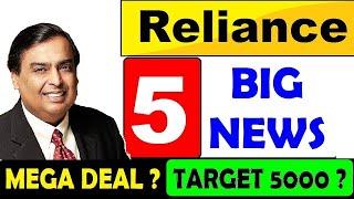 RELIANCE TARGET 5000? NEXT BIG PLAN?⚫ RELIANCE SHARE PRICE REVIEW ANALYSIS MUKESH AMBANI NEWS⚫ SMKC