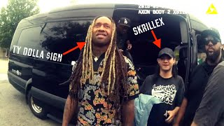 Police Search Ty Dolla $ign's Mercedes Van; K9 Can't Stop Barking [Full Video]