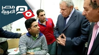 preview picture of video 'مصر العربية | محلب يزور مصابى حادث البحيرة ويأمر بنقلهم لمستشفى المعادي العسكري'