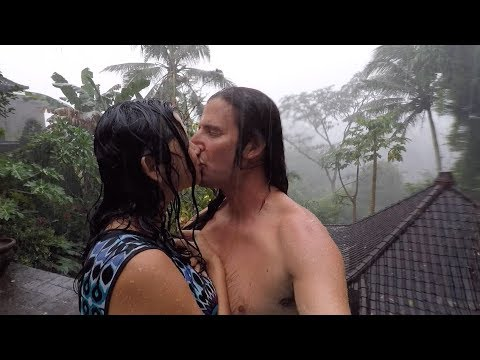 Crazy Rain - Bali ❤️ In Indonesian Monsoon Downpour