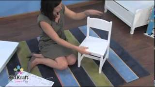 Kids Furniture; Aspen Table And Chairs White By KidKraft