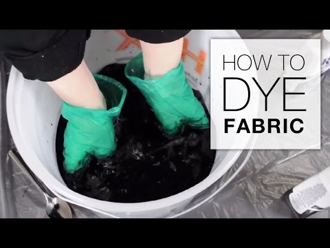 How to Dye Fabric (Immersion Dye Technique Tutorial)