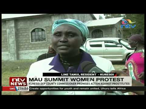 Women decry increased prostitution in Mau Summit, Total centers