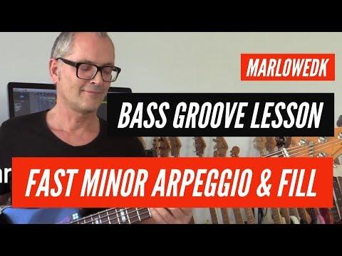 Minor arpeggio bass groove with fill tutorial