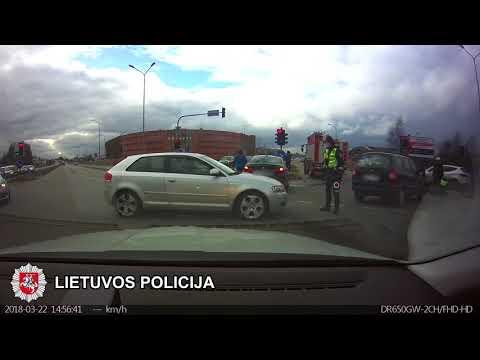 Сбил полицейского на дороге водитель в Литве