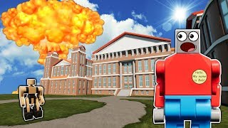 NUKE VS THE NEW MANSION UPDATE! - Brick Rigs Roleplay Gameplay - New Bricksville Map
