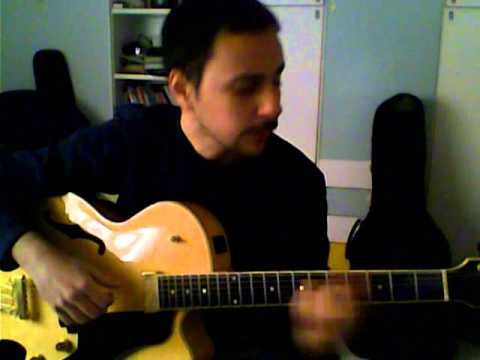 How deep is the Ocean (chord melody on guitar) - Sergio Gentile Yamaha aex1500
