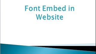 preview picture of video 'Font Embed in website'
