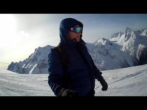 Домбай - горнолыжный курорт. Январь 2019. День второй