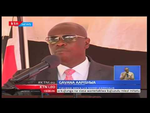 Samuel Wamathai aapishwa  kuwa Gavana wa pili Nyeri Kaunti