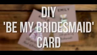 Will You Be My Bridesmaid? DIY Printable Origami Cards