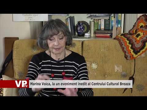 Marina Voica, la un eveniment inedit al Centrului Cultural Breaza