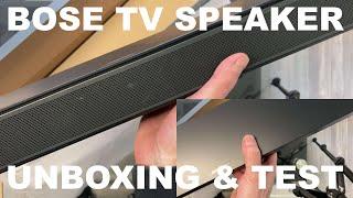 Bose TV Speaker | Unboxing & Musik / Sound Test in Deutsch mit Review (Bose Soundbar Modell 2020)