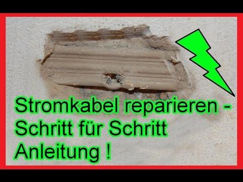 Stromkabel angebohrt –  Kabel in der Wand reparieren / Anleitung - Stromleitung Unterputz flicken