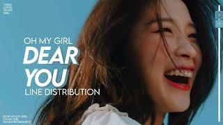 Dear You - OH MY GIRL (오마이걸) • Line distribution
