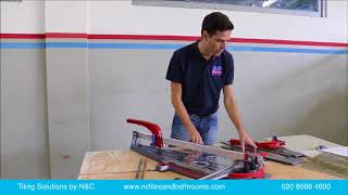 How to dry cut porcelain tiles with a manual tile cutter