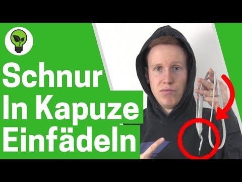 Schnur in Kapuze einfädeln ✅ ULTIMATIVE ANLEITUNG: Hoodie Bändel & Pullover Kapuzenband einziehen!!!