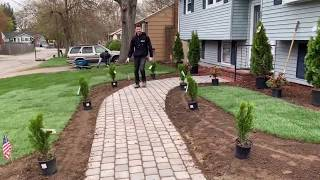 FRONT YARD LANDSCAPING DESIGN (TIME-LAPSE)