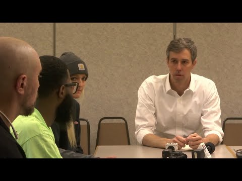 Democratic presidential candidate Beto O'Rourke campaigns in Michigan a year before the state's primary. (March 18)