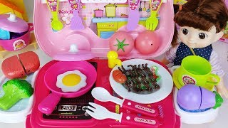Baby doll food car and kitchen cooking toys play - 토이몽