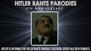 Hitler is informed the Hitler Rants Parodies Facebook group has been removed