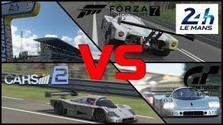 Project Cars 2 vs GT Sport vs Forza 7 - Circuit de la Sarthe