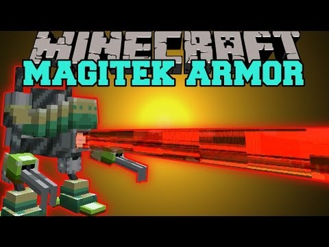 Minecraft: MAGITEK ARMOR (SHOOT FIRE BEAMS, SMELT, & MINE!) Mod Showcase