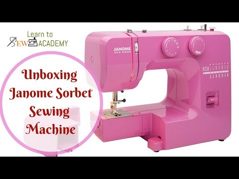 Unboxing Janome Sorbet Domestic Sewing Machine | Quick Sewing Tips #9 | LTS Academy