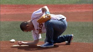 【宮城】プロ野球始球式でプロ芸人・三又が見せたのは…。