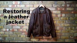 Restoring a leather jacket