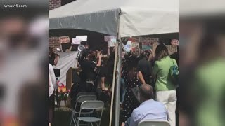 Protesters interrupt Louisville mayor at ribbon-cutting