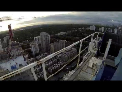 Climbing And Operating A Tower Crane Is A Real Life Nightmare