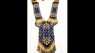 Fringe Necklace, Necklace Seed Bead, Gerdan Necklace, Bead Loom Necklace,