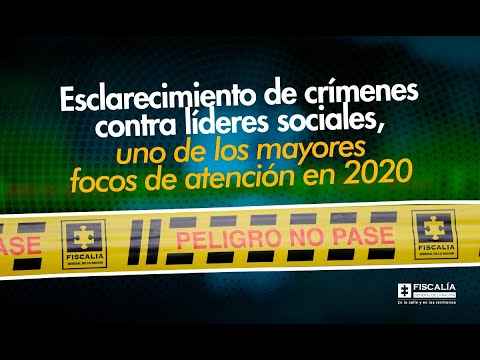 Avance del 63% en esclarecimiento de crímenes contra líderes sociales