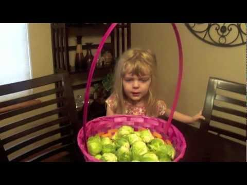Funniest prank! Brussels sprouts in my kid's Easter basket!