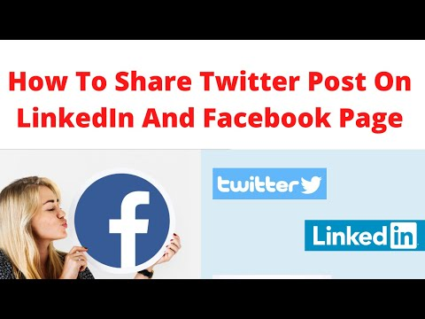 Twitter post on LinkedIn and Facebook page