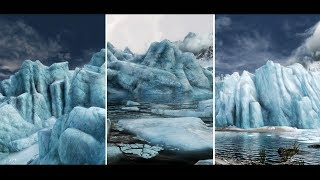 Skyrim SE - Glaciers Mods Comparison: Just Ice - RIS Real Ice and Snow - Glorious Glaciers