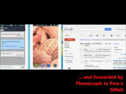 Video of PhoneLeash: SMS/MMS forwarding