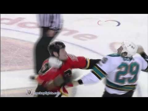 Ryane Clowe vs Tim Jackman