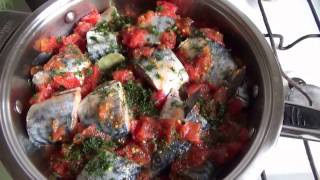 СКУМБРИЯ в ТОМАТЕ. Нежная, сочная РЫБА богатая Омега-3 и B1. Блюда из рыбы очень полезны