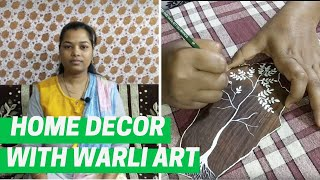 Home decor with traditional Warli art | Diwali Decoration ideas 2019 | DIY