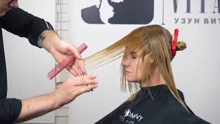 СТРИЖКА SWITCH-OVER.Школа парикмахеров Узун Виталия. HairCompany