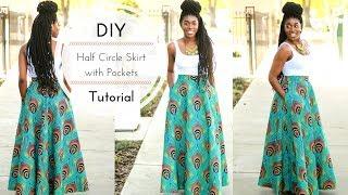 DIY Half Circle Skirt With Pockets Tutorial Part 1