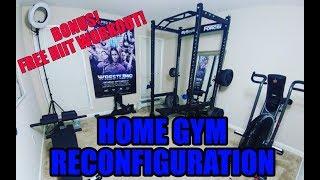 Home Gym Reconfiguration- Bonus FREE HIIT Workout!