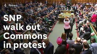 Scottish National Party walk out of Commons in protest