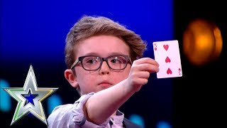 9 year old Magician Aidan wins over the judges!   Ireland