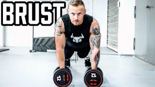 BRUST Workout mit Kurzhanteln für Zuhause | Muskelaufbau Trainingsplan | Anfänger & Fortgeschrittene