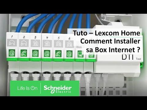 LexCom Home - coffret communication grad2TV - 6xRJ45 cat6 ex à20 - espace box 3R
