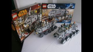 Lego Star Wars : Turbo Tank ( Size Comparison ) - Set 7261 Vs Set 8098