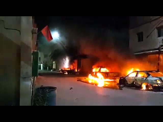 حريق يلتهم 3 سيارات بالقطيف